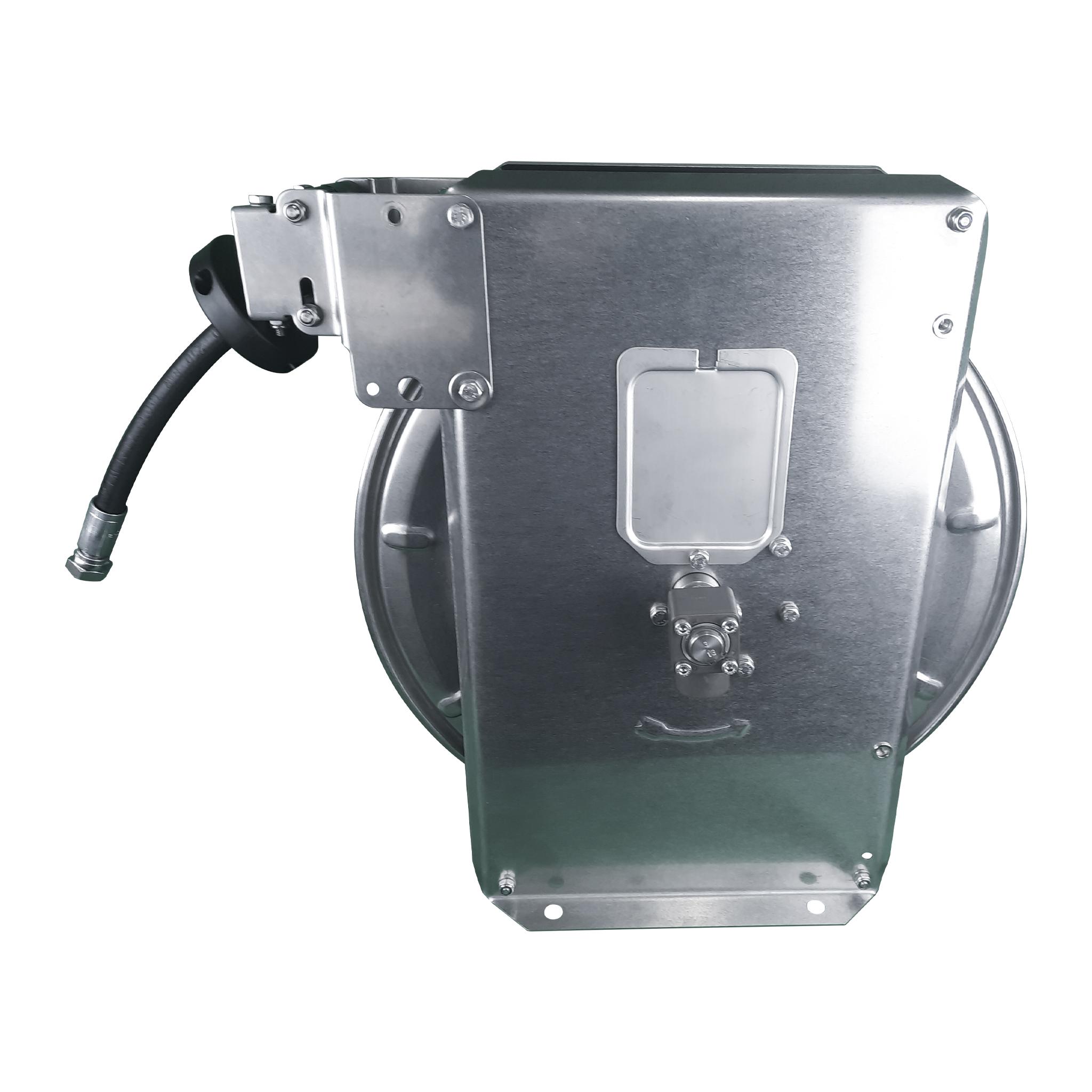 Automatischer Schlauchaufroller aus Edelstahl